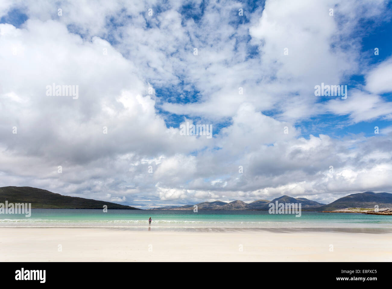 Luskentyre Beach Isle of Harris Scotland - Stock Image