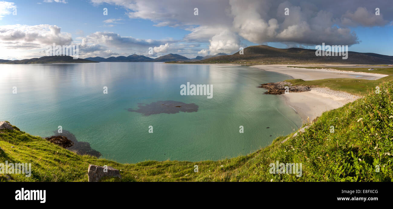 Seilebost beach, Isle of Harris, Scotland, Panorama - Stock Image