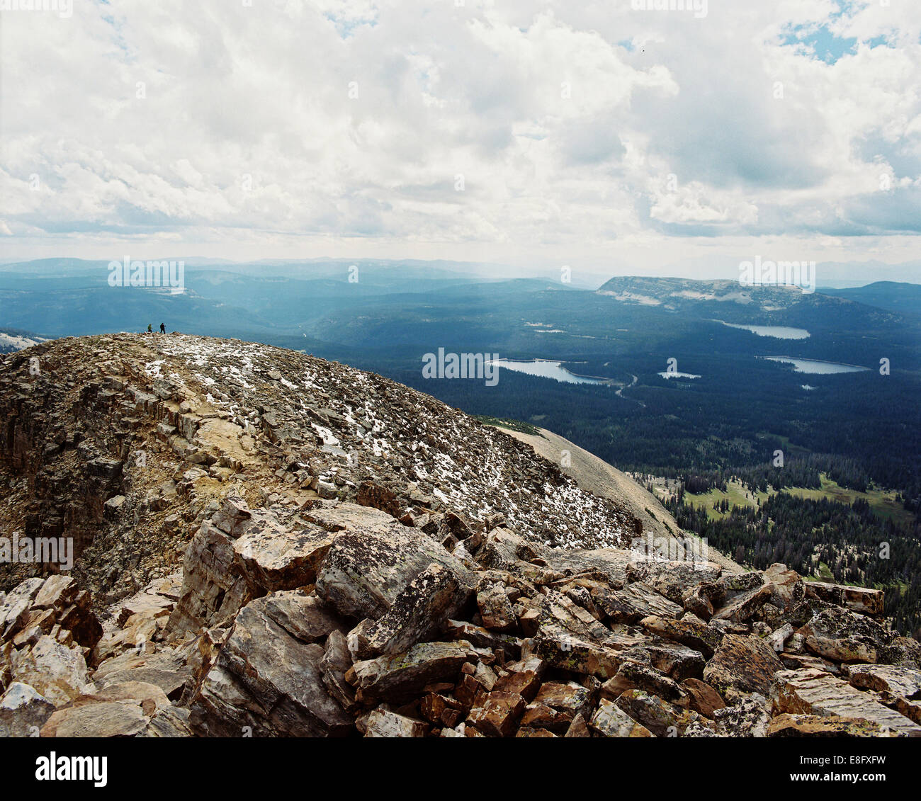 USA, Utah, View from top of Bald Mountain - Stock Image
