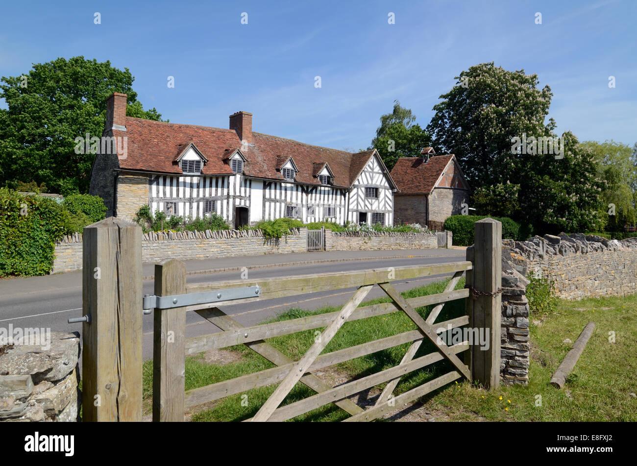 Mary Arden House Wilmcote near Stratford-upon-Avon Warwickshire England - Stock Image