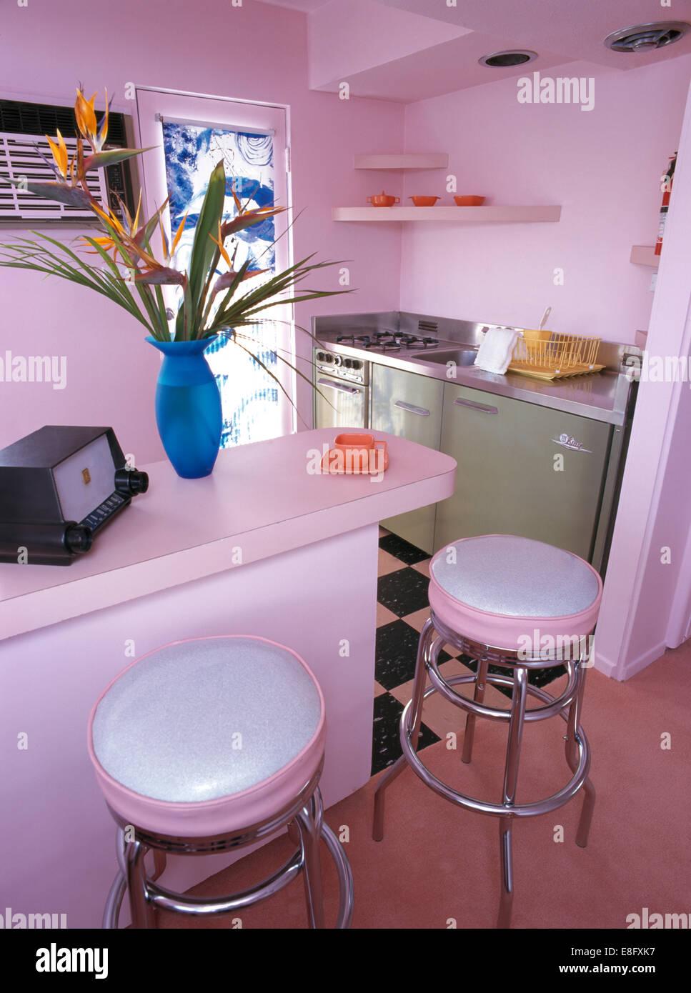Pink Bar Stools Stock Photos Amp Pink Bar Stools Stock