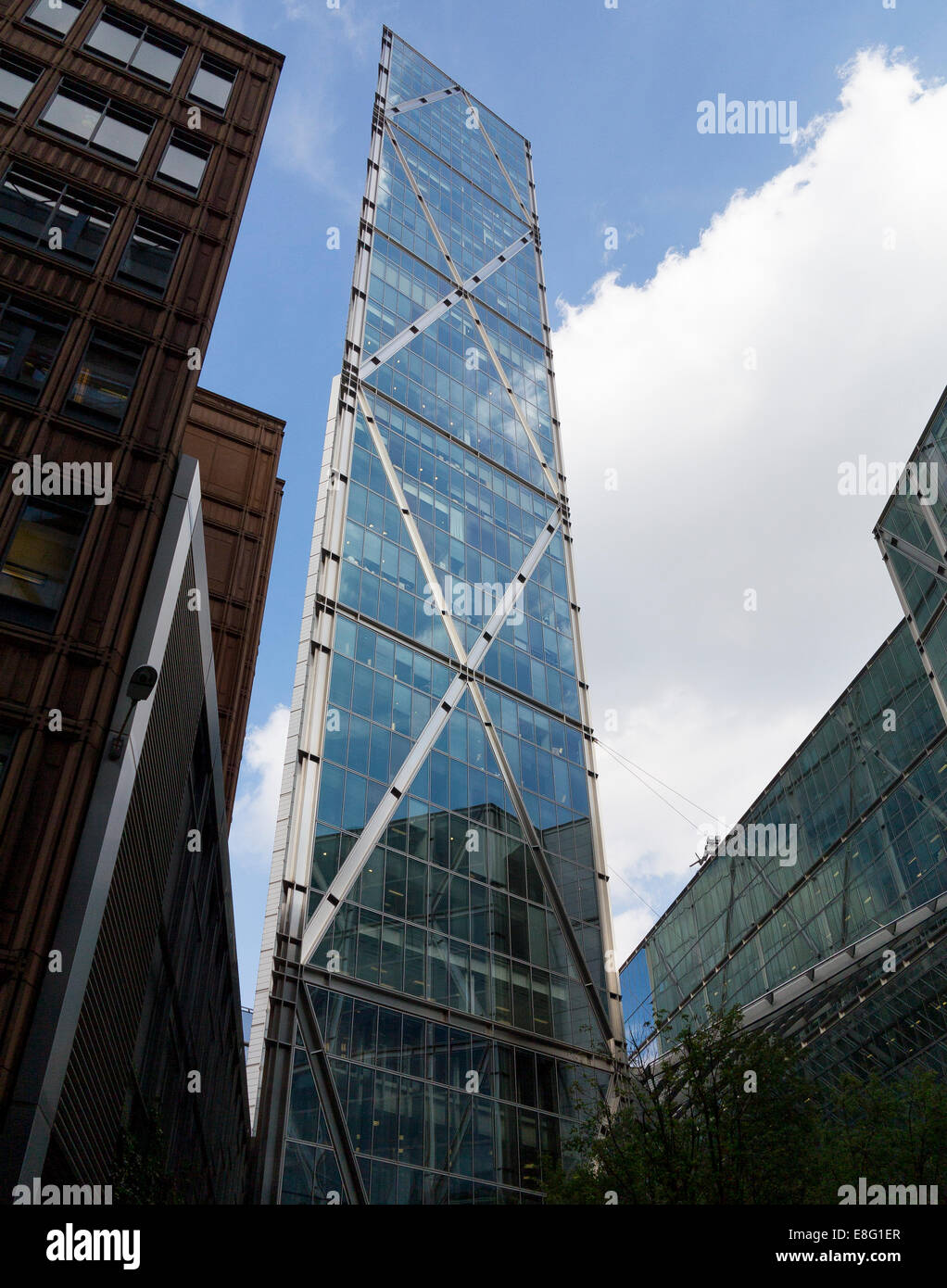 The Broadgate Tower, just north of Liverpool Street Station, City of London - Stock Image