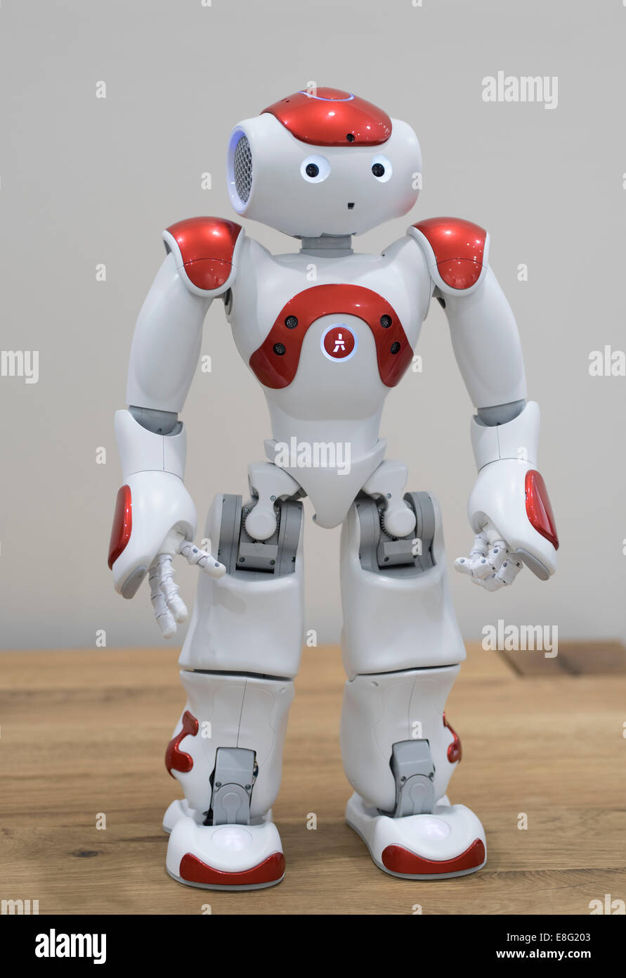 Nao an autonomous, programmable humanoid robot by Aldebaran Robotics. - Stock Image