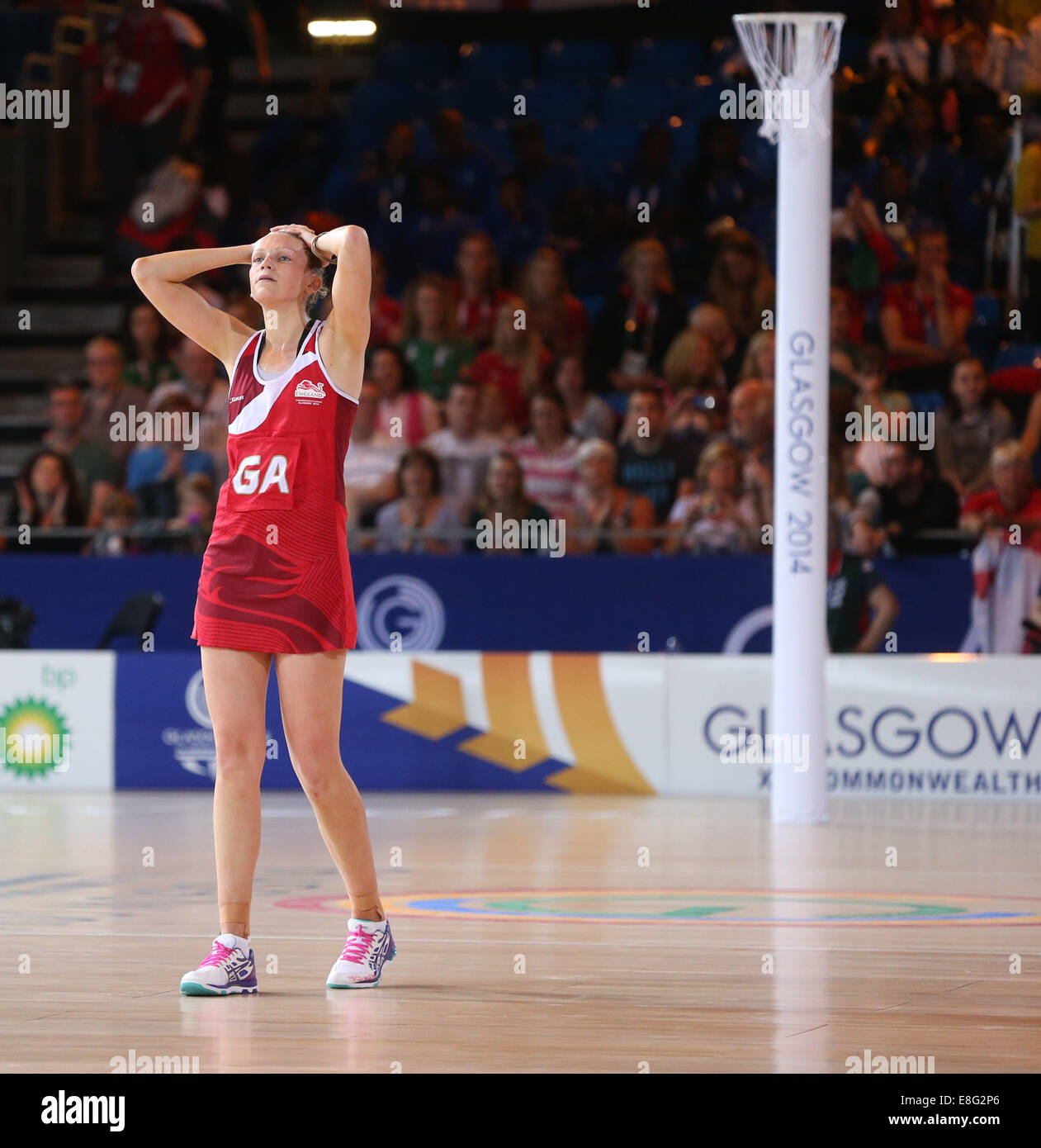 Joanne Harten ( ENG) looks dejected after England lose in the final seconds - Semi Final England v New Zealand  - Stock Image