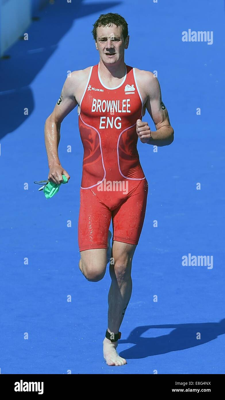 Alistair Brownlee (ENG). Triathlon. Strathclyde Country Park, Glasgow, Scotland, UK -  240714 - Glasgow 2014 Commonwealth - Stock Image