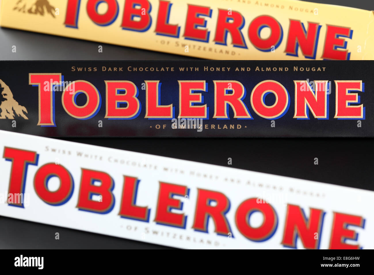 Toblerone Chocolate Bars Swiss White Dark And Milk
