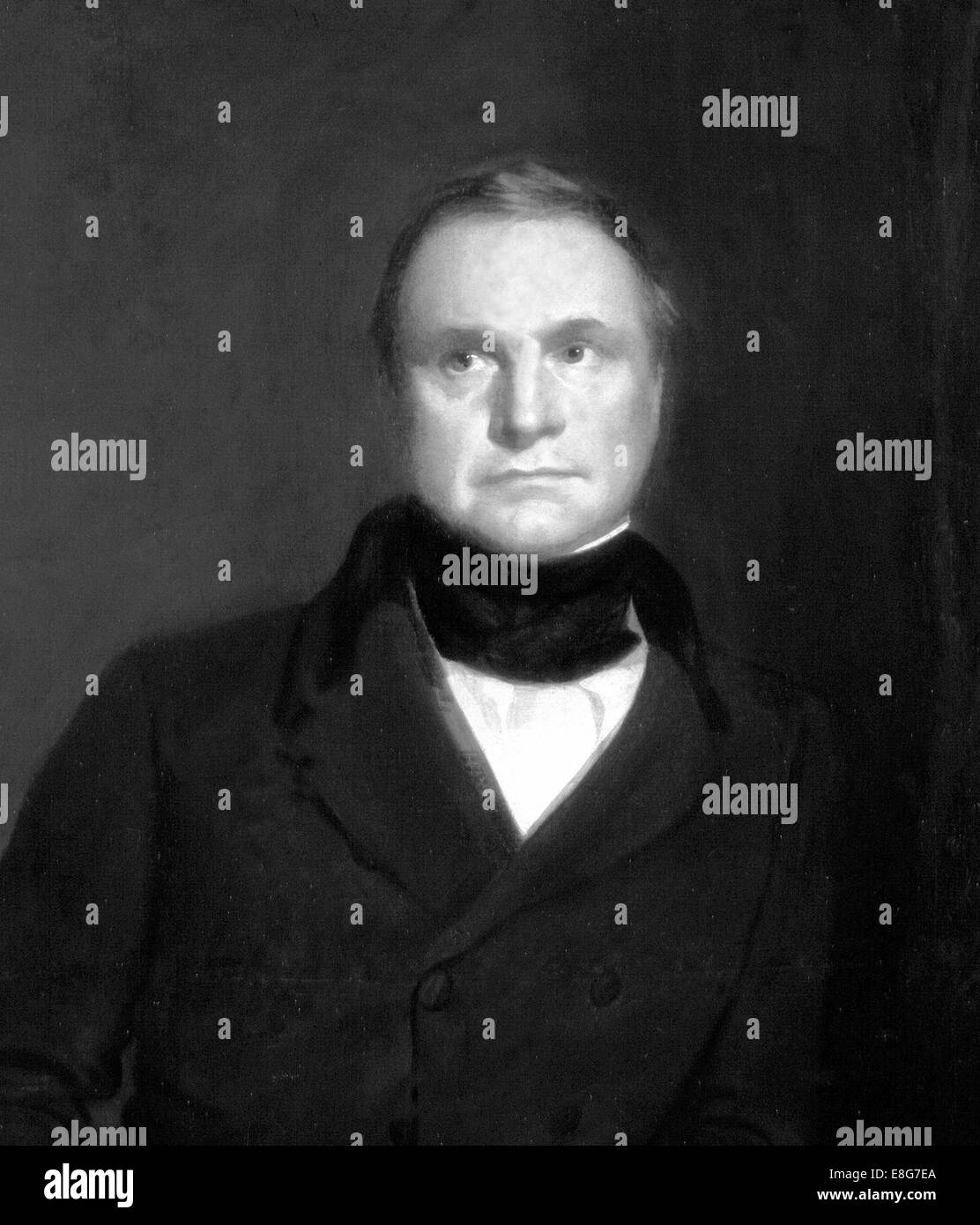 CHARLES BABBAGE (1791-1871) English mathematician and inventor. Engraving based on 1860 portrait. - Stock Image