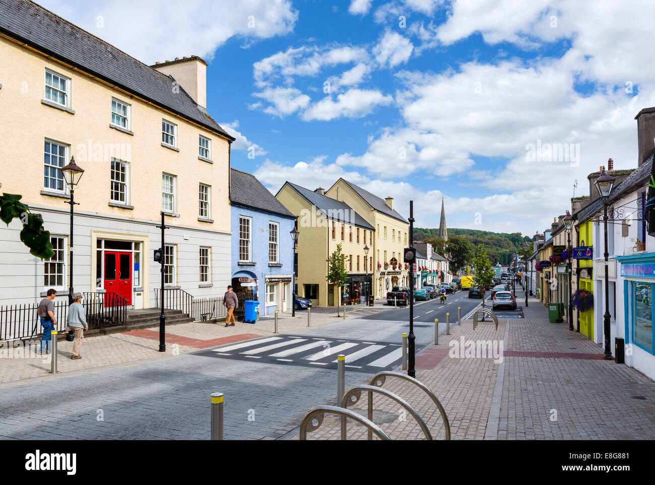 James Street in the town centre, Westport, County Mayo, Republic of Ireland - Stock Image