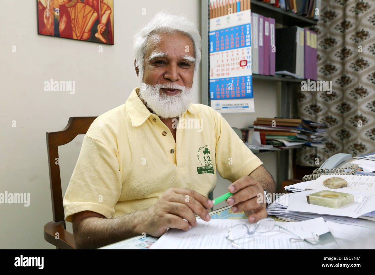 JOSEPH COUTTS, Archbishop of the roman catholic Diocese of Karachi, Pakistan Stock Photo