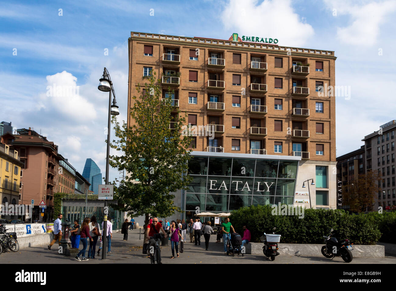Eataly Smeraldo food store in Milan - Stock Image
