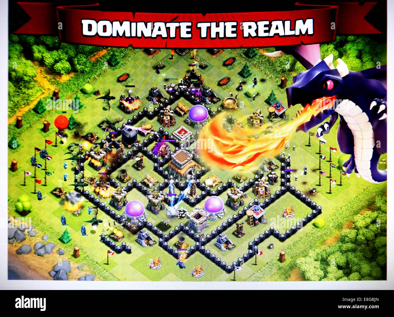 Clash of Clans web site - Stock Image