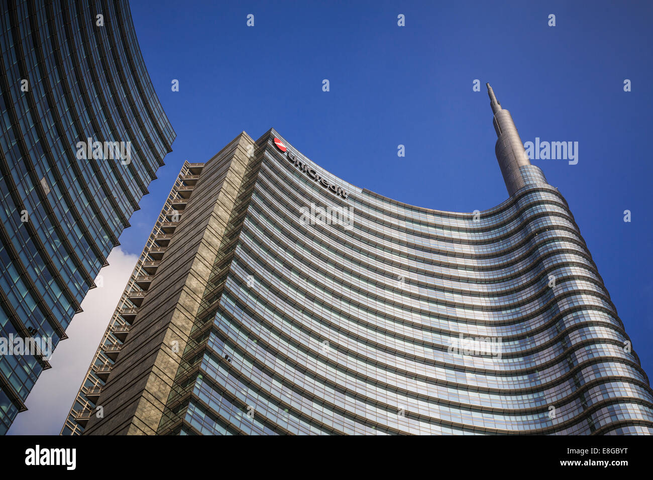 The Unicredit Tower (Torre Unicredit) , Milan, Italy - Stock Image