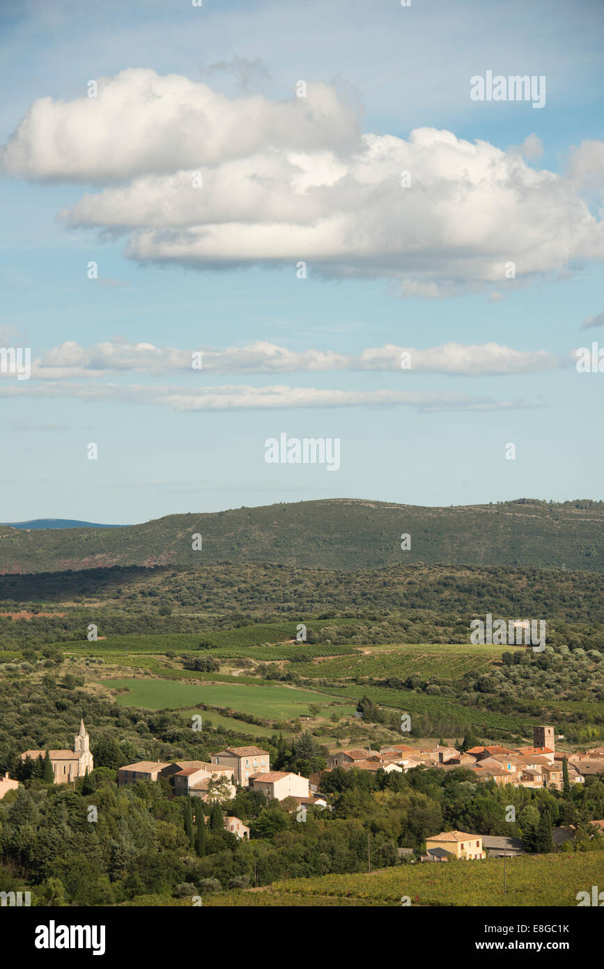 Village of Loiras du Bosc; near Lodeve; Herault; Languedoc Roussillon ; Southe of France - Stock Image