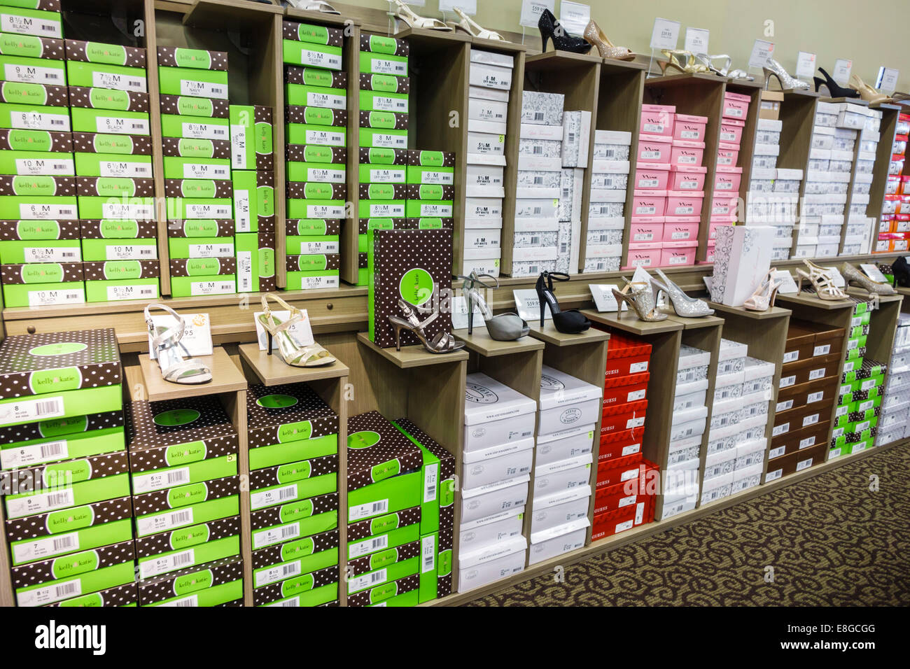 0beb674048a Naples Florida shopping Bealls Department Store discount boxes women s  shoes fashion sale display