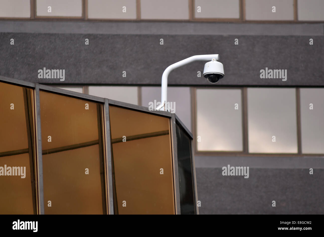 Security camera and urban video. Concept photo. copyspace - Stock Image