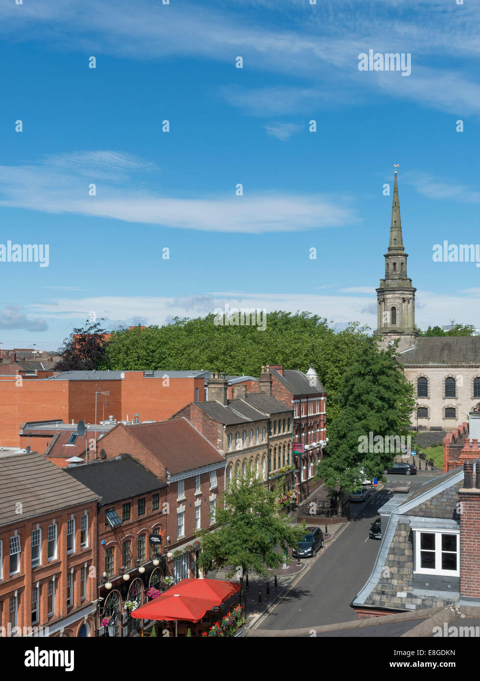 The Jewellery Quarter of Birmingham, England. Ludgate Hill. - Stock Image
