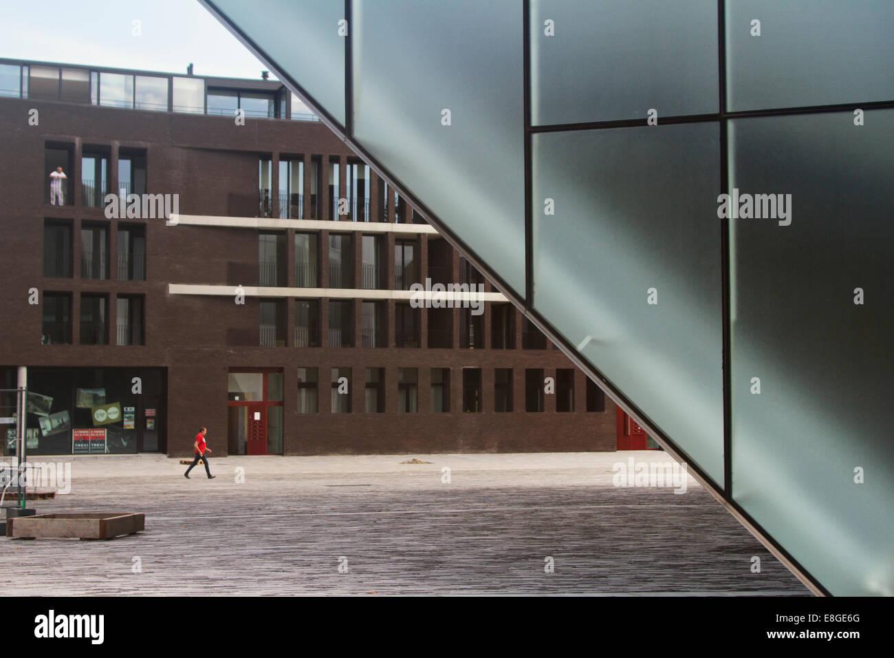 Europe; Belgium; Wallonia; Wallonne; Mons; European Capital of Culture 2015; Theatre; Le Manège; Théâtre du Manège; Stock Photo