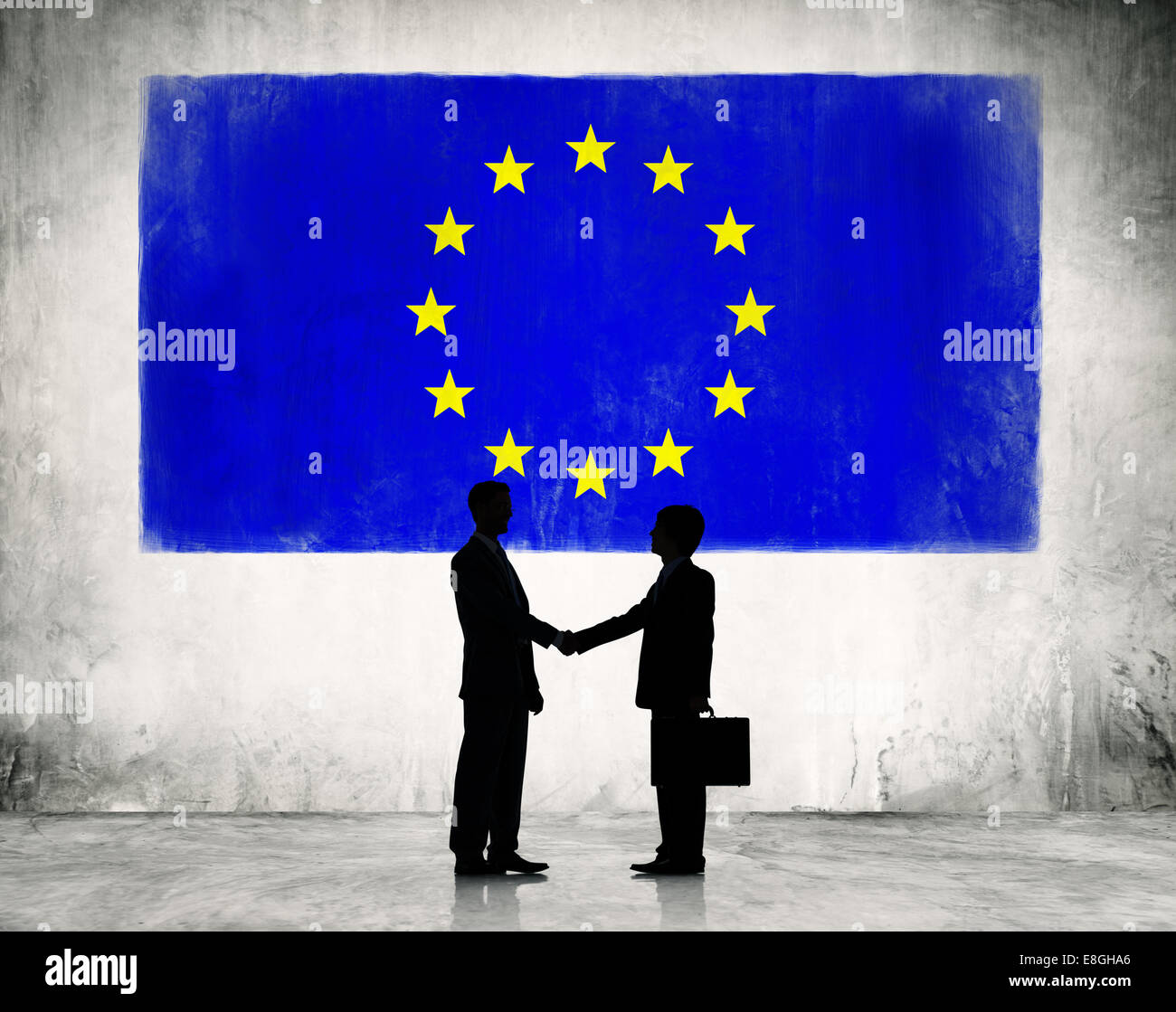 Business strategic planning in European Union. - Stock Image