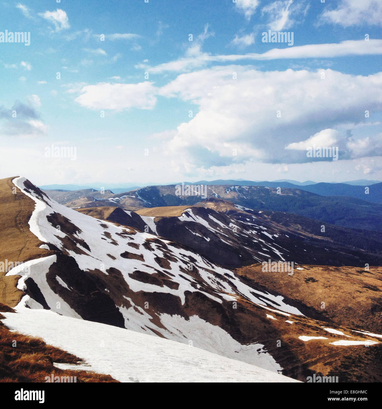 View of mountain range - Stock Image