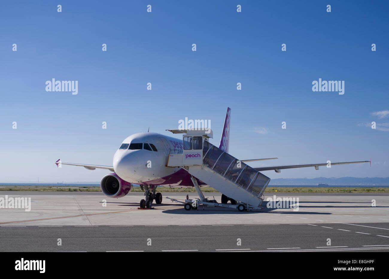 Peach Aviation, Japanese Low cost carrier airline based in Osaka, Japan - Stock Image
