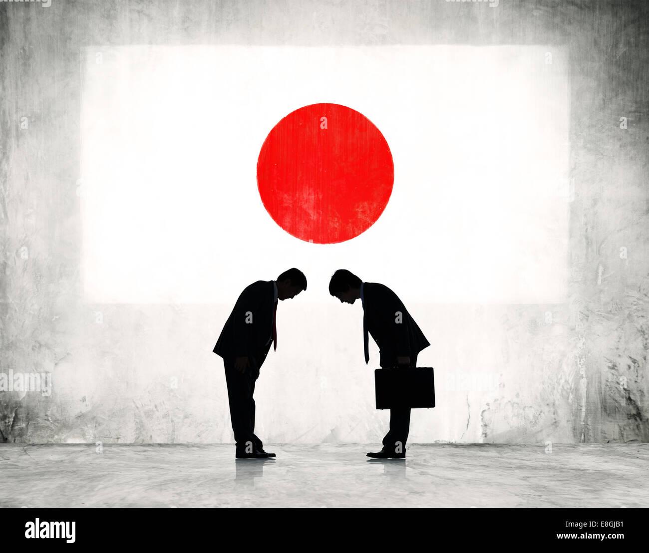Japan Business Meeting Greeting Stock Photos Japan Business