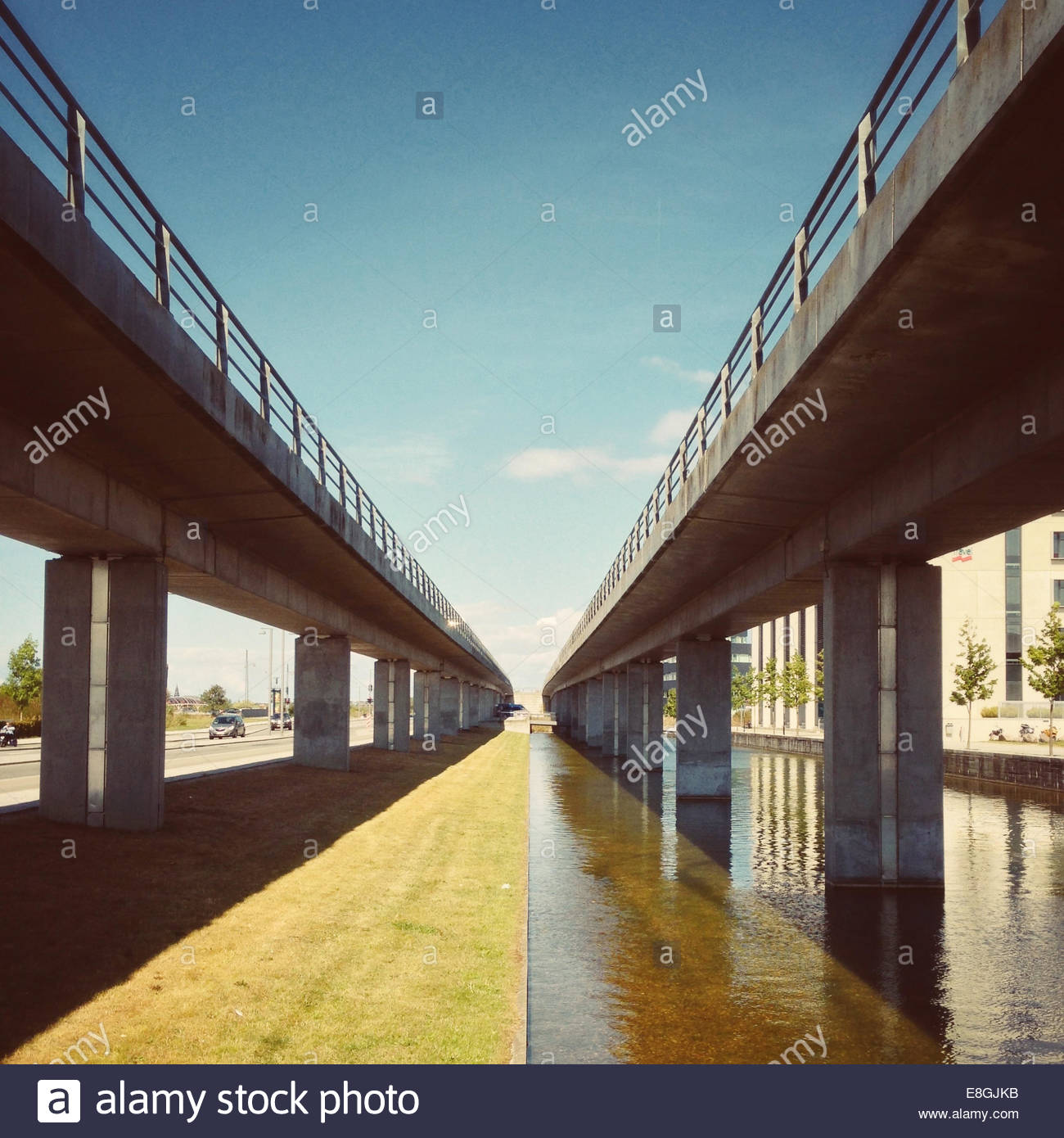 Denmark, Copenhagen, Elevated roads - Stock Image