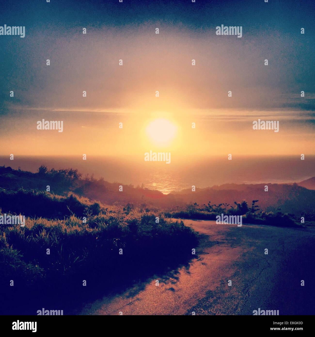 Barbados, Bathsheba, Sunrise in Barbados - Stock Image