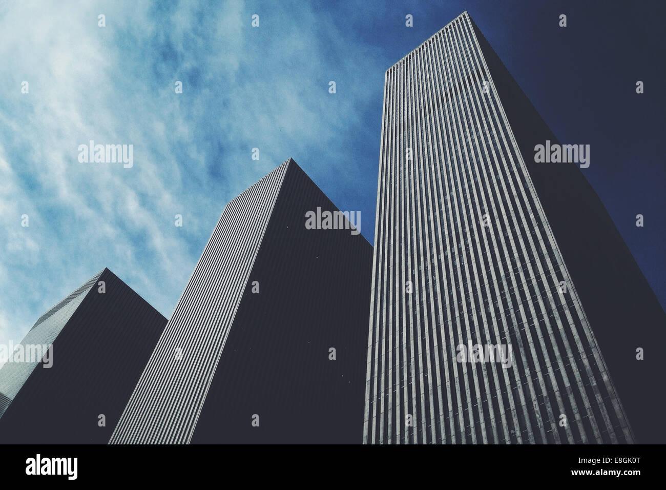 USA, New York City, Manhattan, Skyscrapers - Stock Image