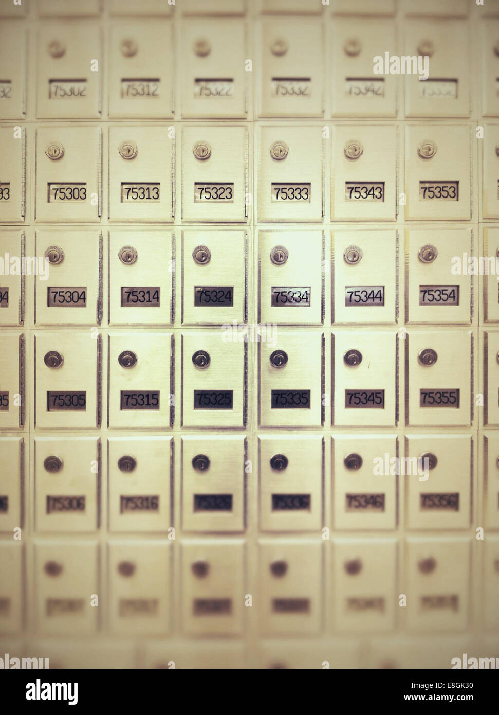 Post office mail boxes - Stock Image
