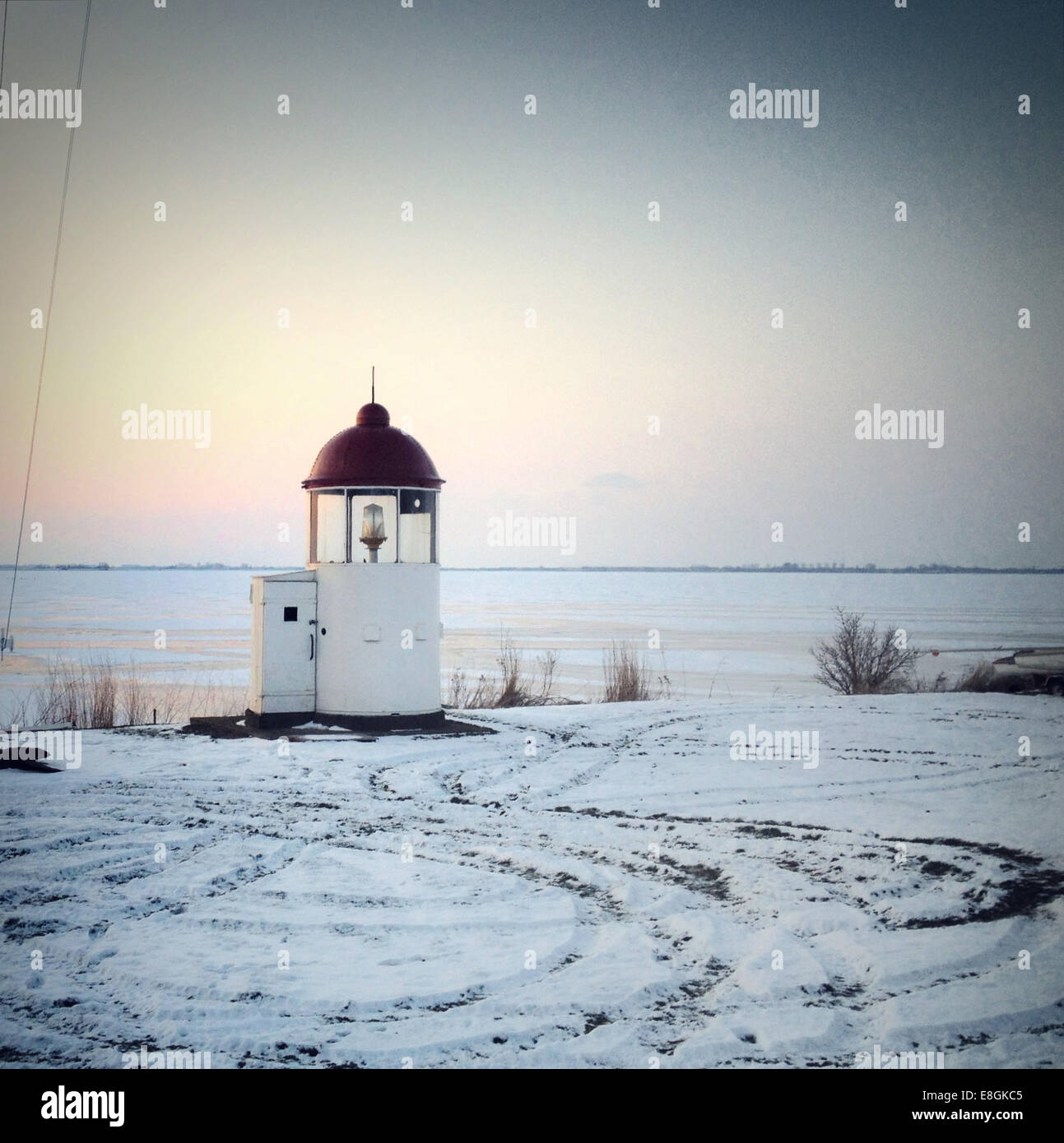 Nederland, Marken, Scenic view with lighthouse - Stock Image