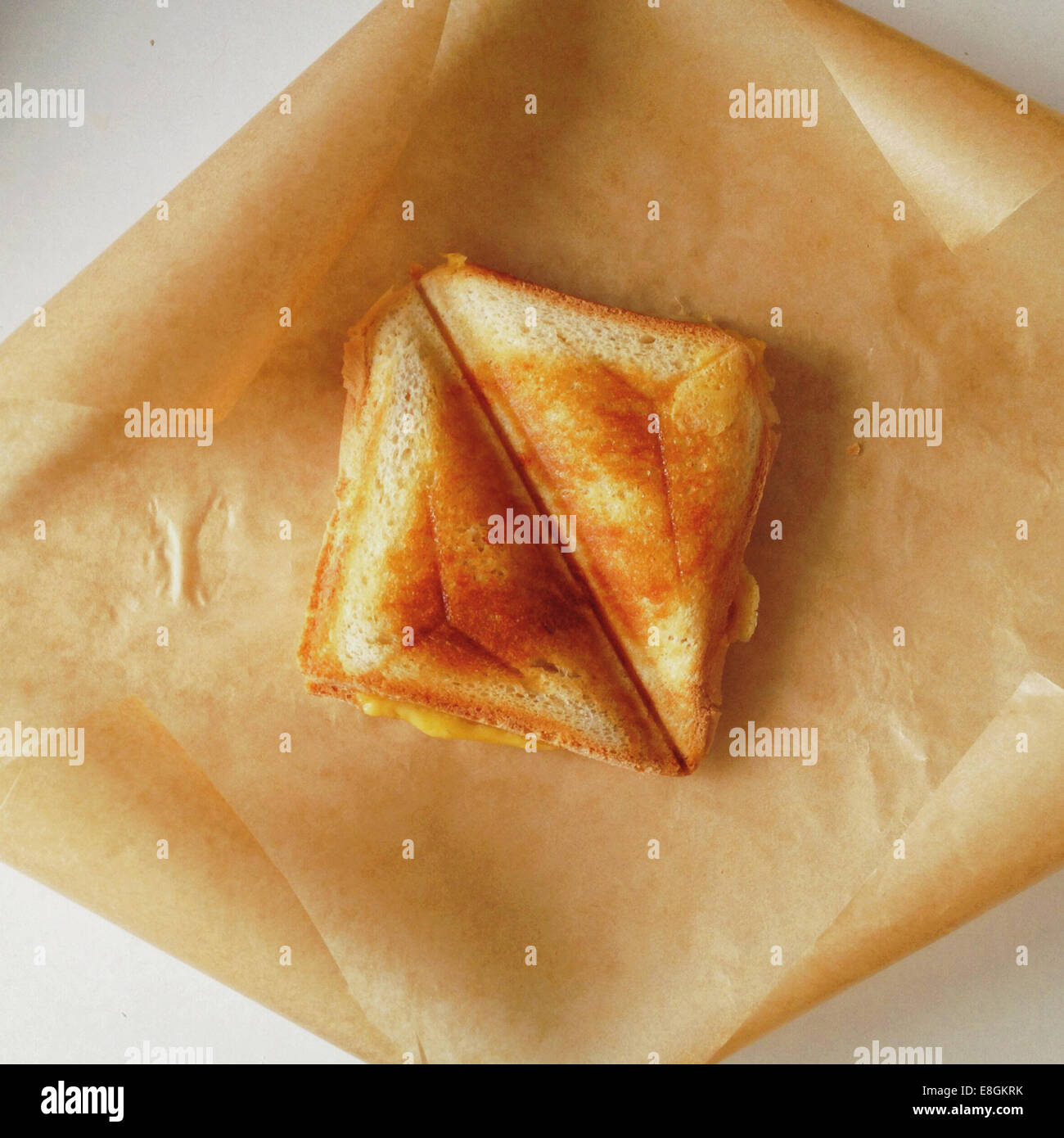 Homemade toasted cheese sandwich - Stock Image