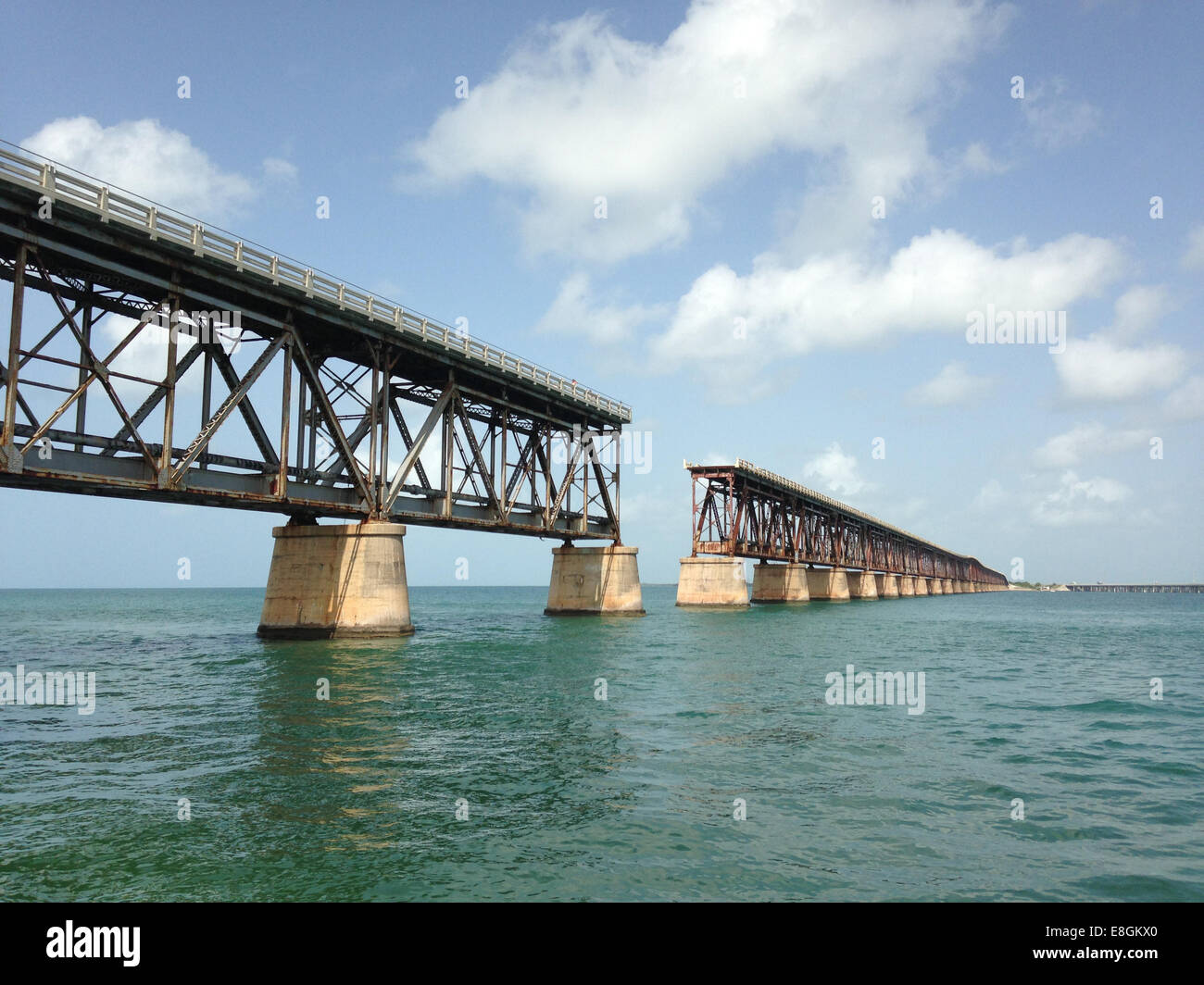 USA, Florida , Bahaia Honda Key, old Flagler Railway, now popular dive site and one of best state parks - Stock Image