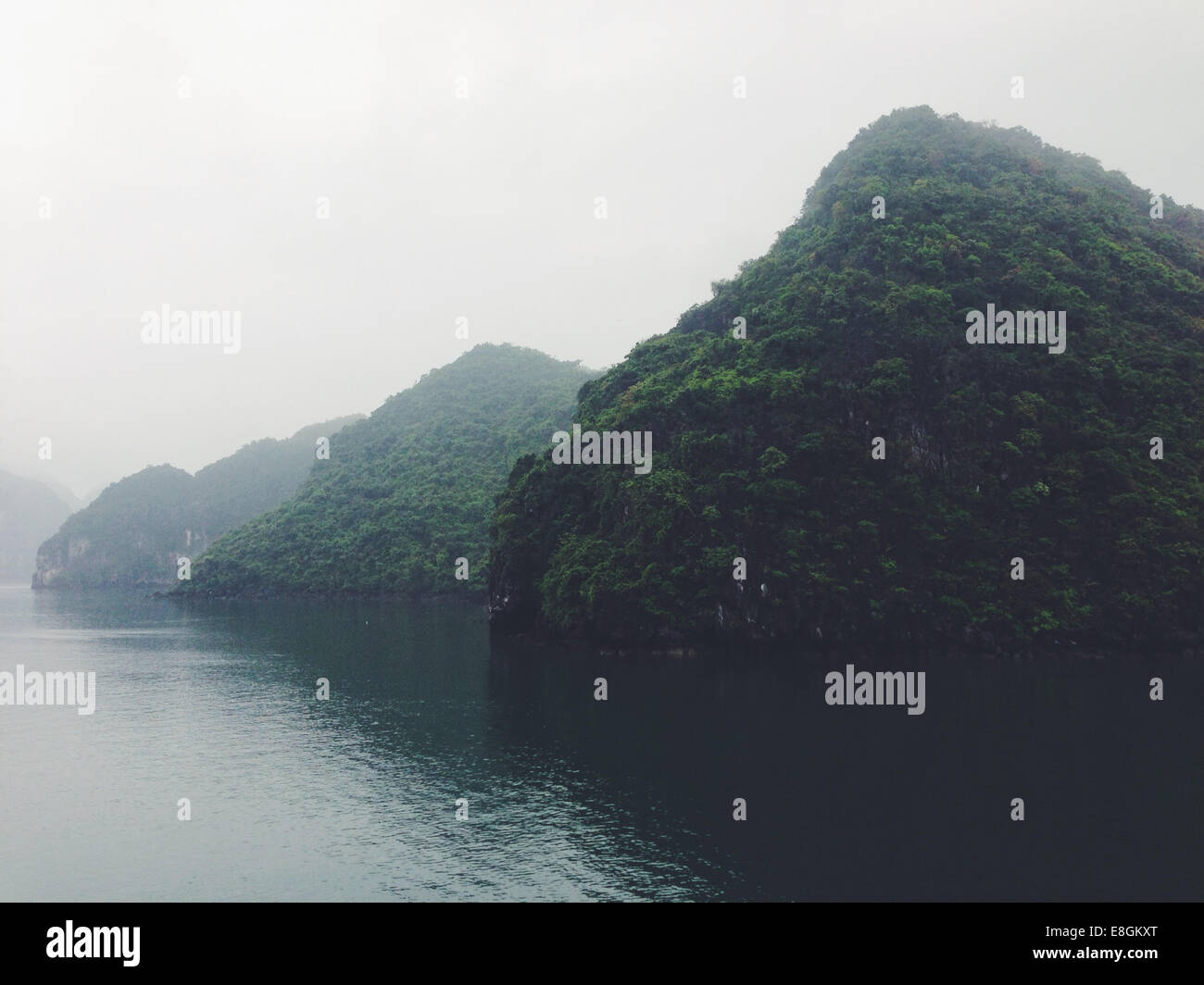 View of limestone islands - Stock Image