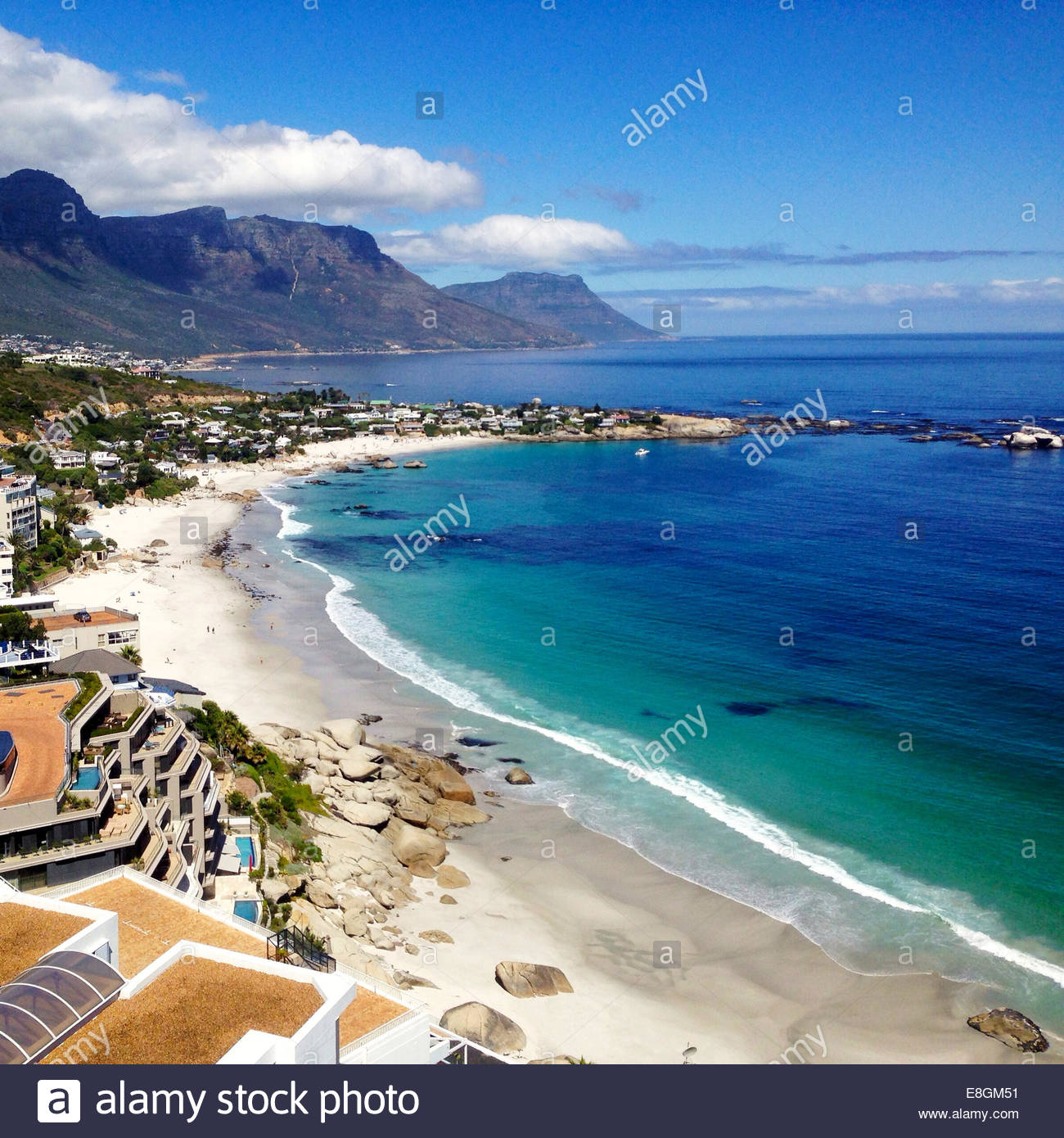 South Africa, Elevated view of coastline - Stock Image