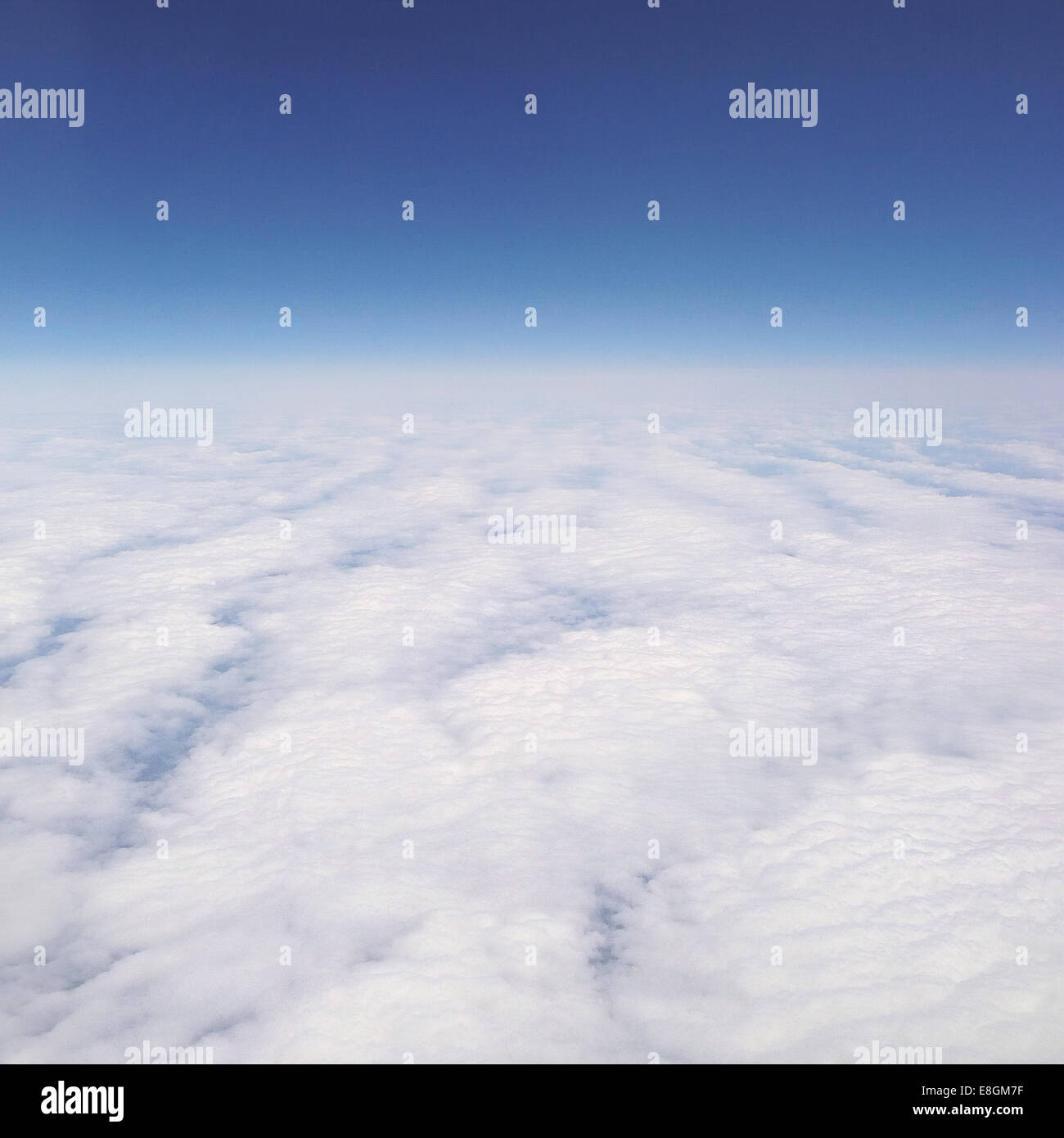 Cloudscape from above - Stock Image