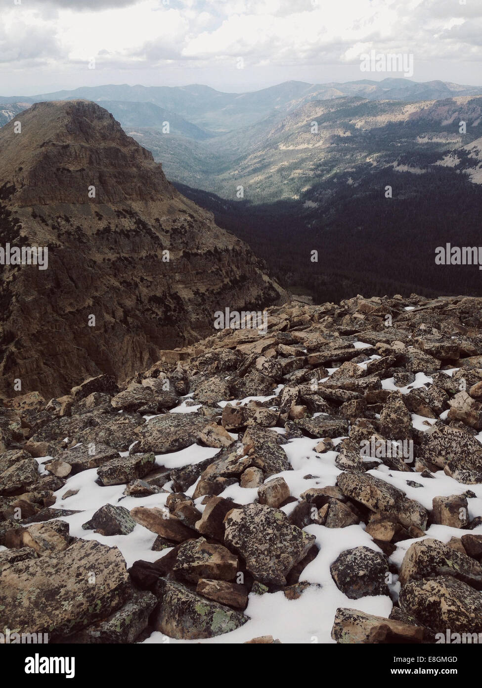 USA, Utah, View from atop of Bald Mountain - Stock Image