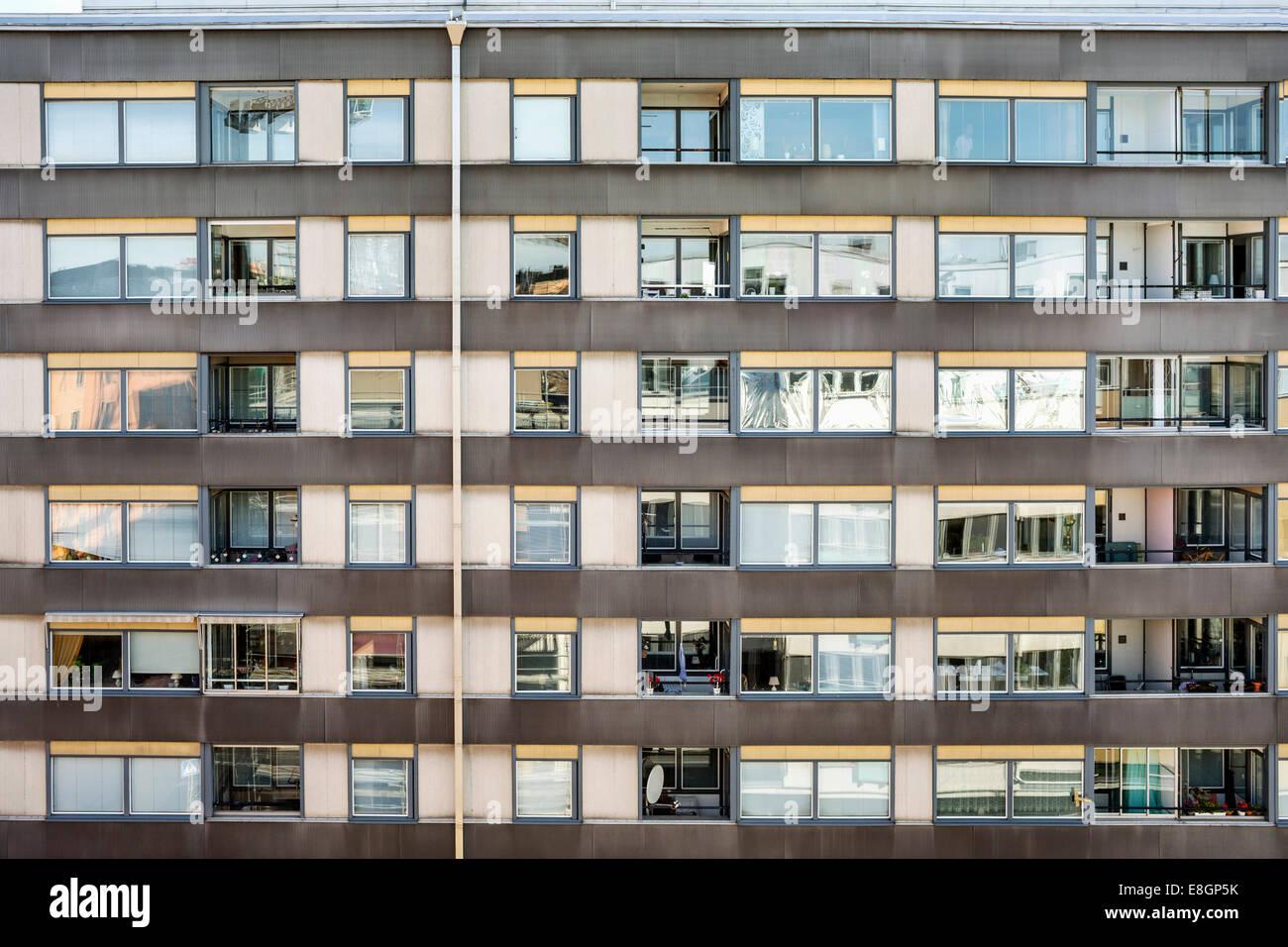 Full frame shot of residential building - Stock Image