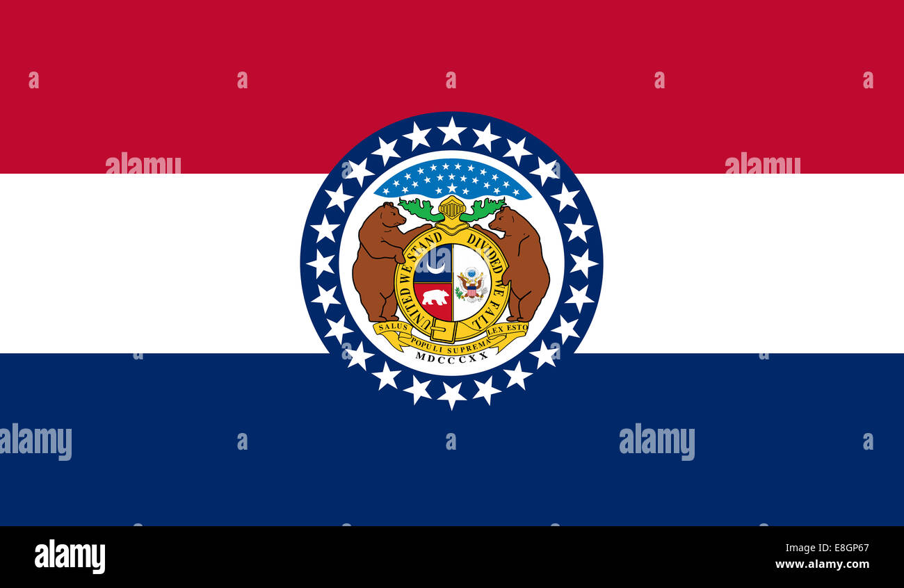 The flag of the state of Missouri - Stock Image