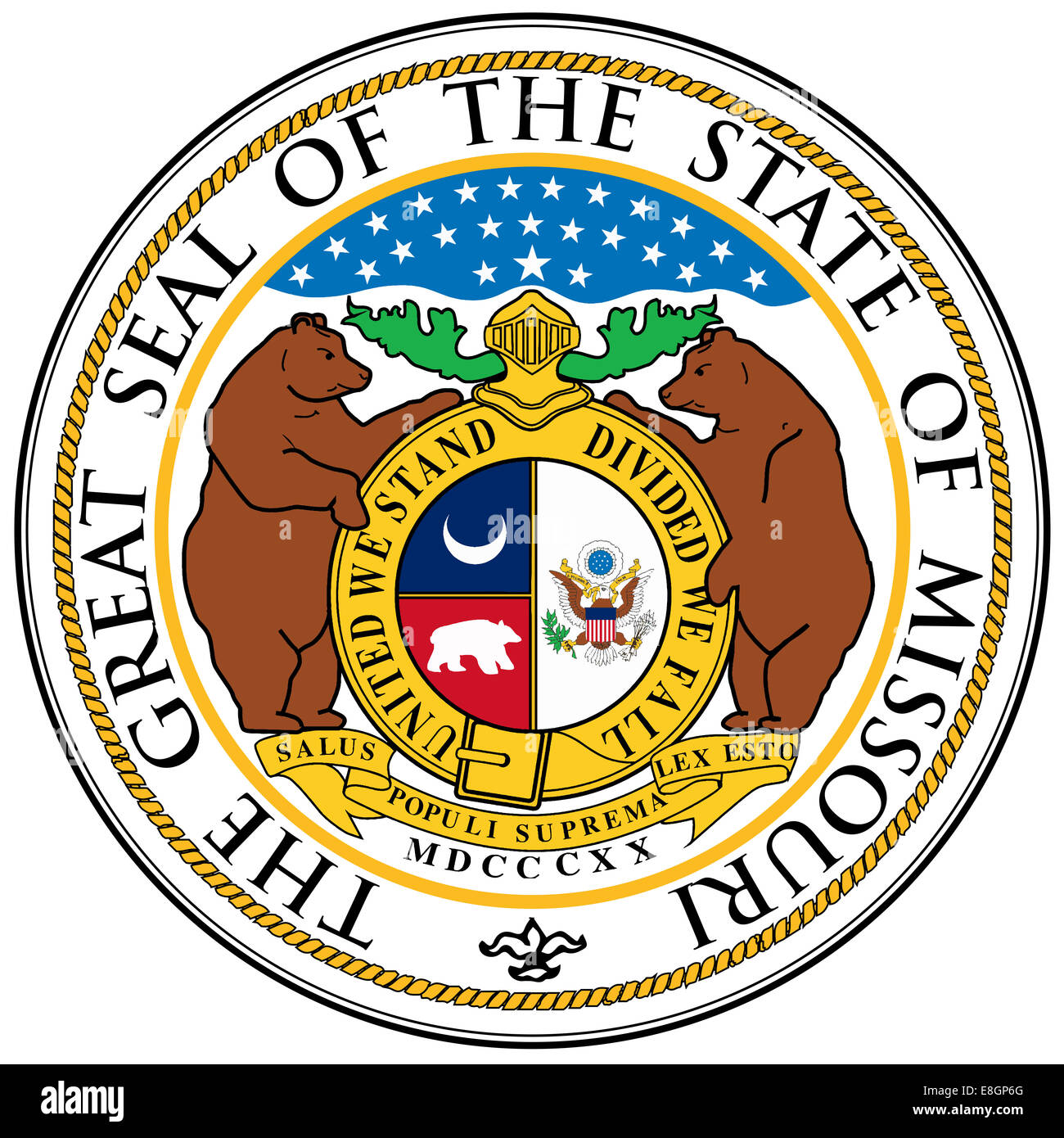 The great seal of the state of Missouri - Stock Image
