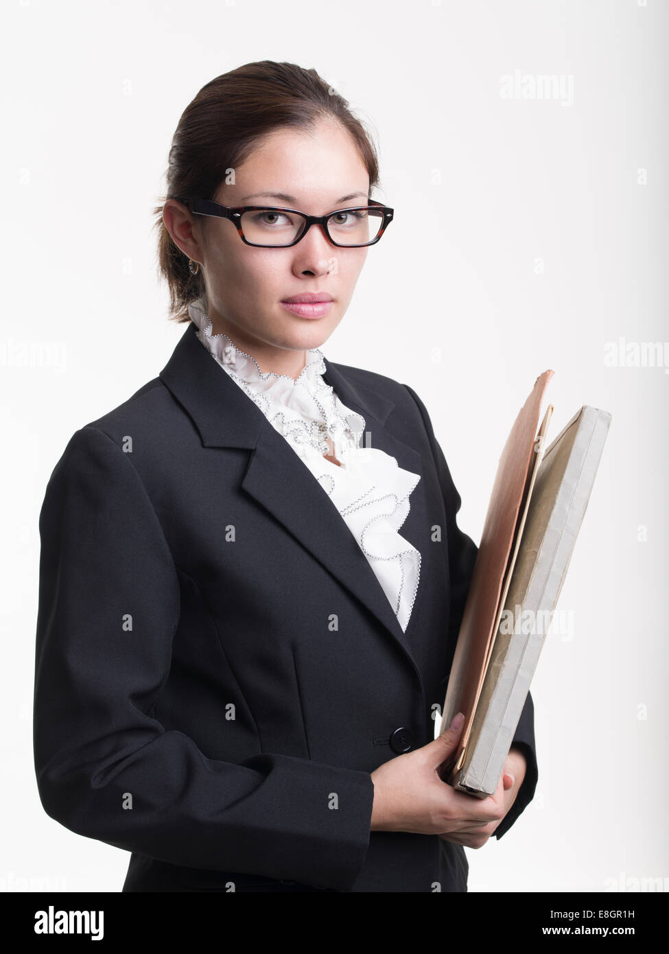 Young female lawyer / law student - Stock Image