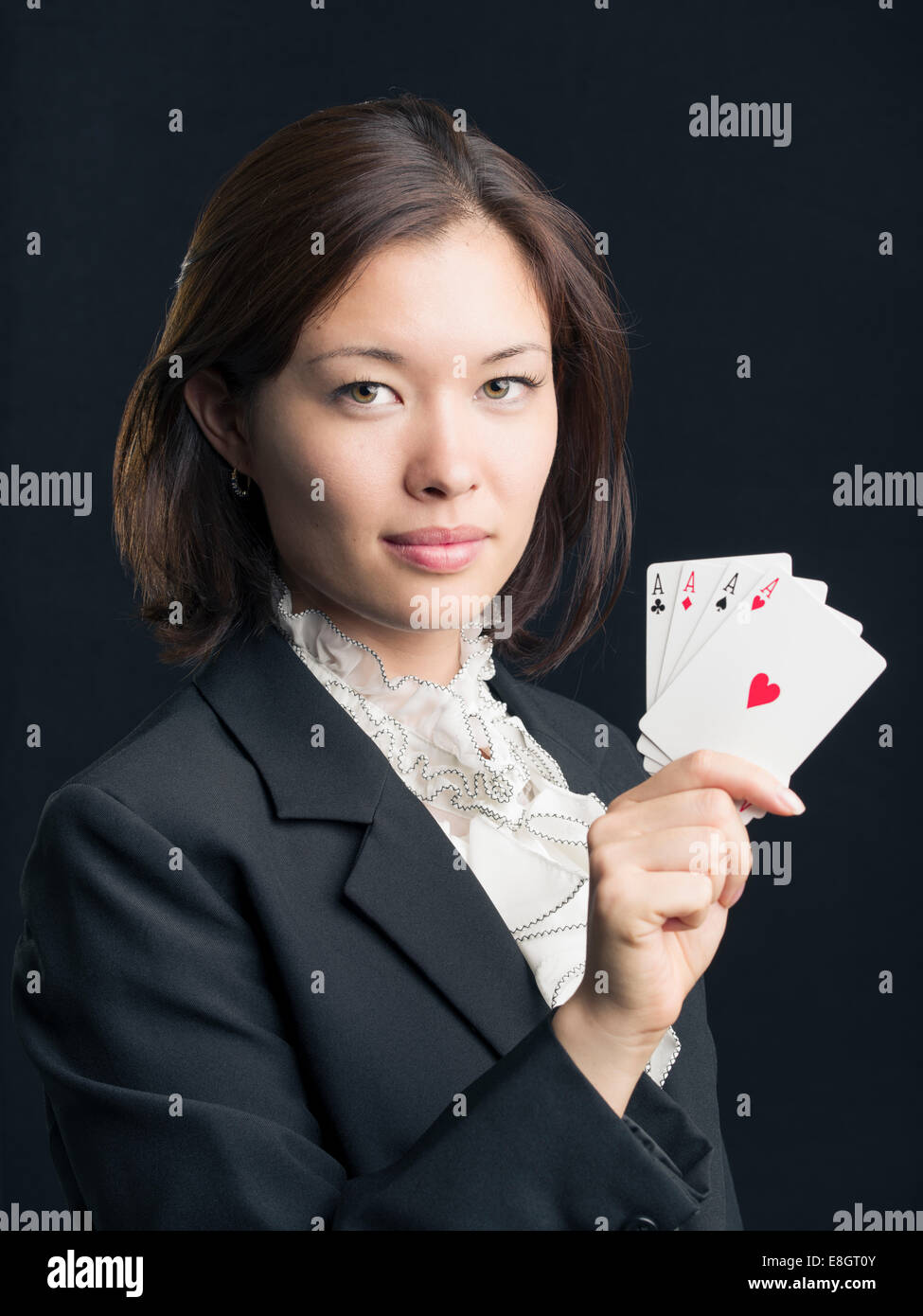 Professional Gambler  / Poker Player - Stock Image