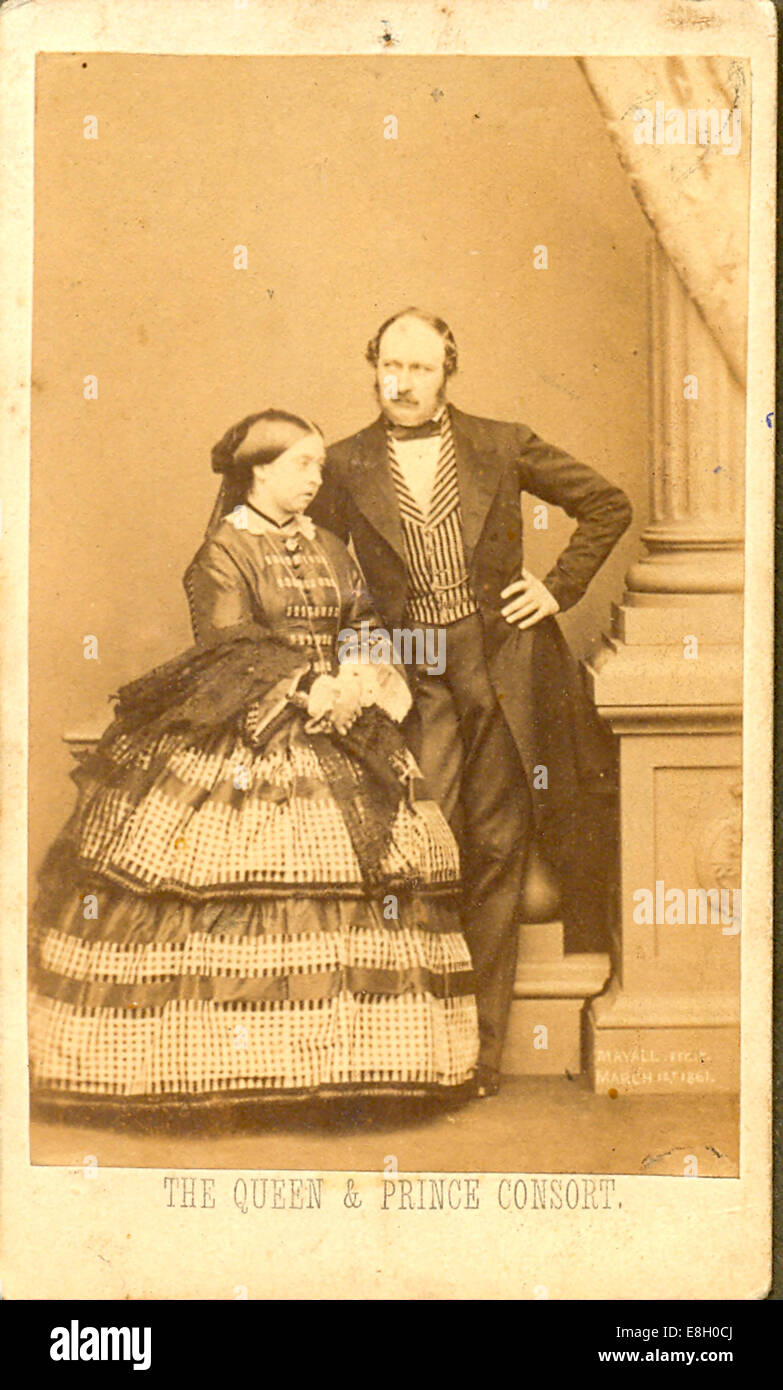 Carte De Visite Photograph Of Queen Victoria And Prince Albert 1858