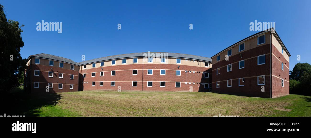 Exterior panorama of Sir John Moore Barracks Folkestone England. - Stock Image