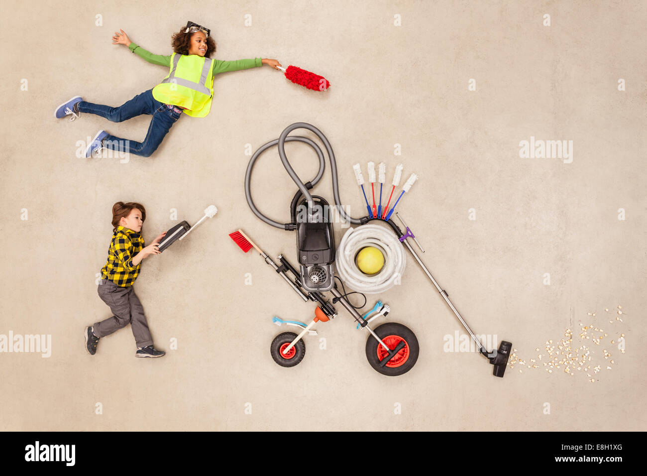 Children developing new household gadgets - Stock Image