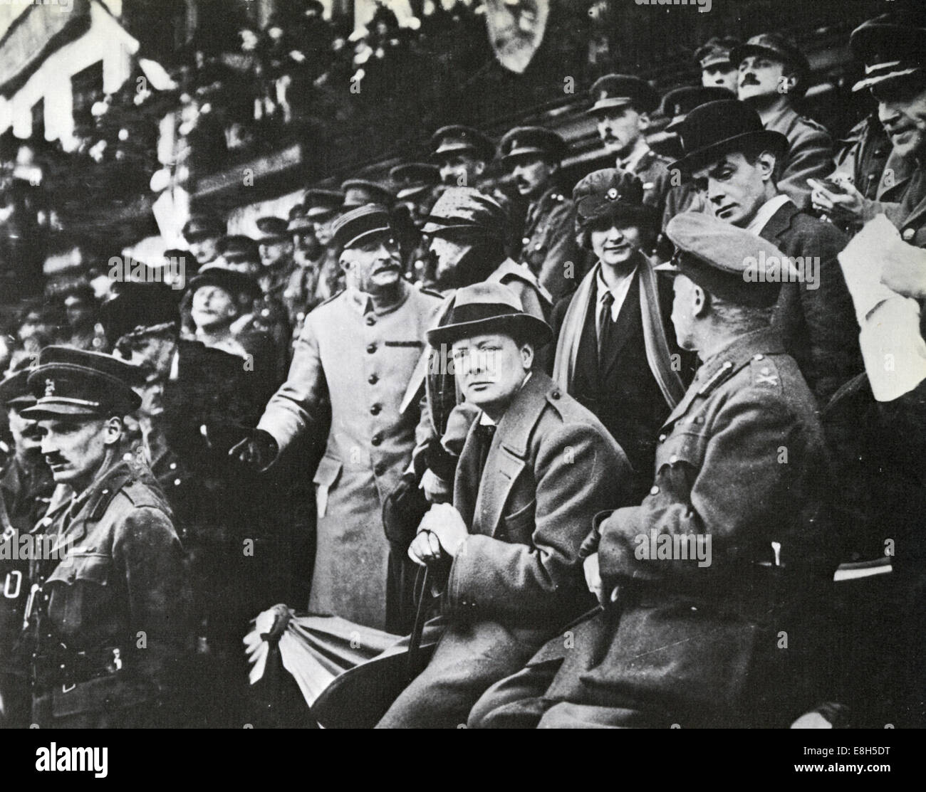 WINSTON CHURCHILL (1874-1965) as Secretary of State for War in 1918 - Stock Image