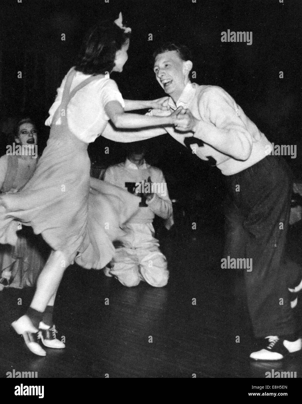 JITTERBUG dancing at the Glen Island Casino, New Rochelle, New York in 1938. This particular style was named The - Stock Image