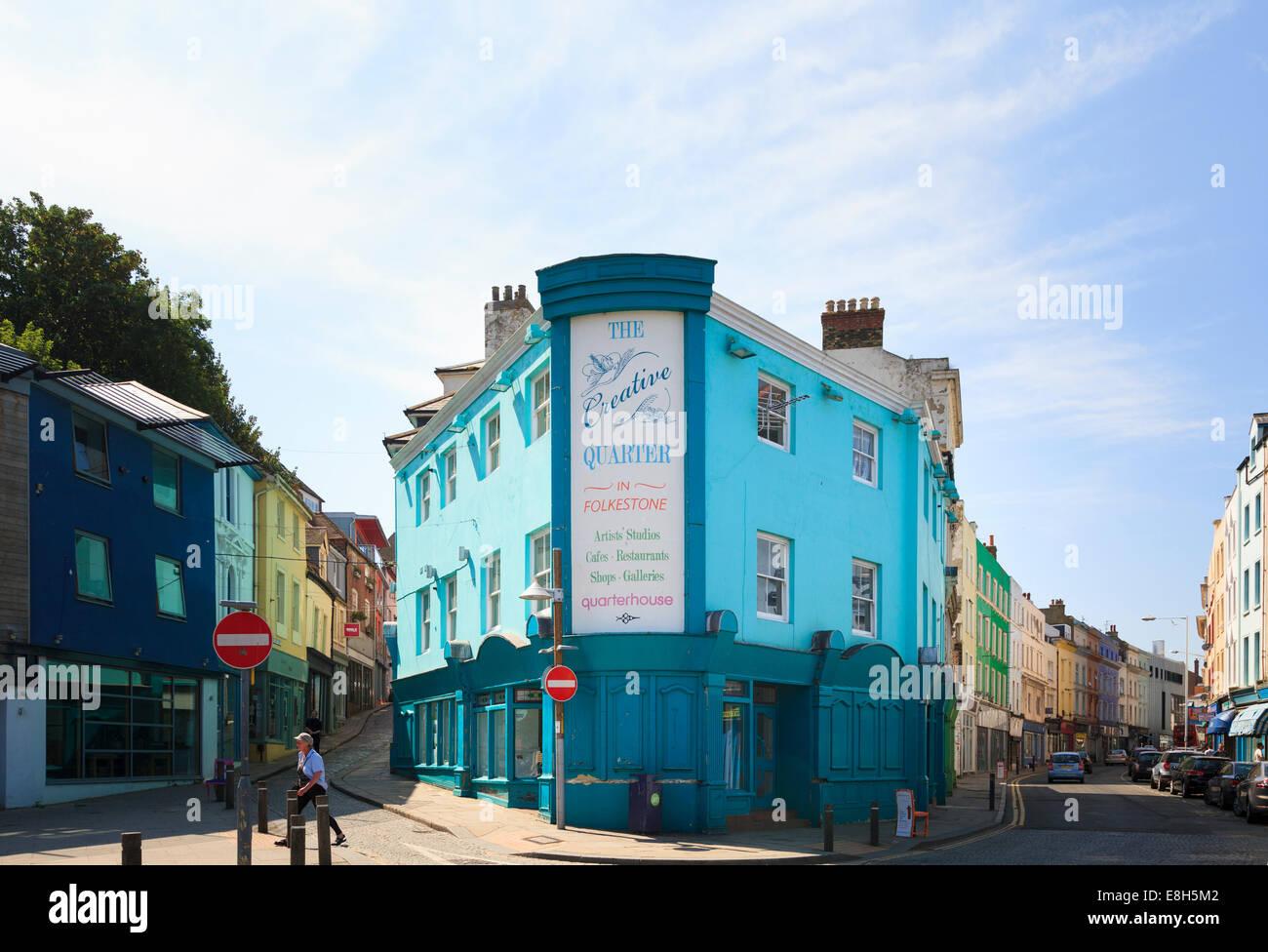 The Creative Quarter in old Folkestone. - Stock Image