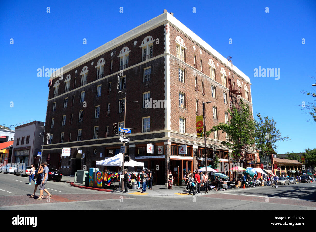 Cafes in Berkeley, San Francisco, Kalifornien, USA - Stock Image