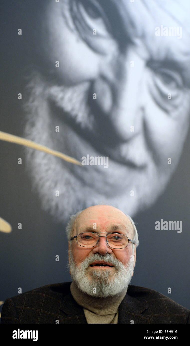 Leipzig, Germany. 8th Oct, 2014. Composer Kurt Masur at the opening of the exhibition 'Kurt Masur - Ein Leben bewegt Stock Photo