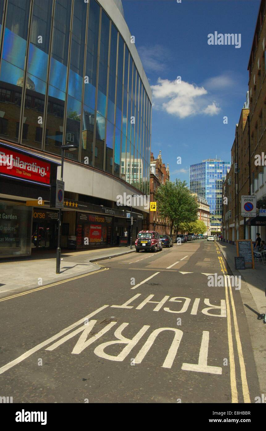 Parker Street at the corner of Drury Lane in London, England    (File: London-98-0040) - Stock Image